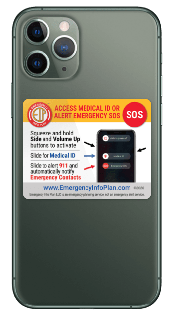 Emergency Alert Sticker iPhone 8