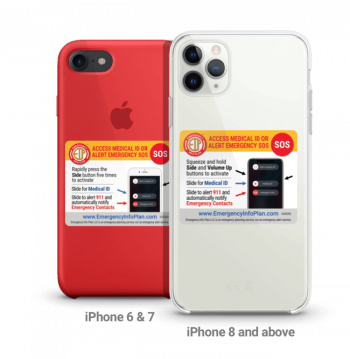 Emergency Alert Sticker iPhone 6/7 and 8+