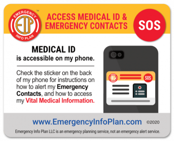 Emergency Alert Sticker - Home & Car