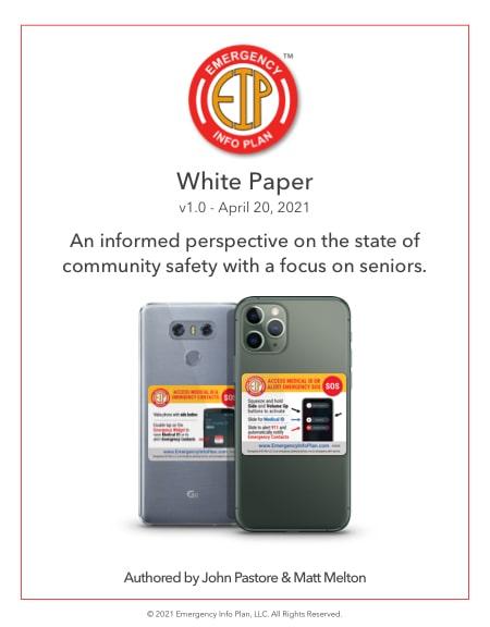 Emergency Info Plan White Paper